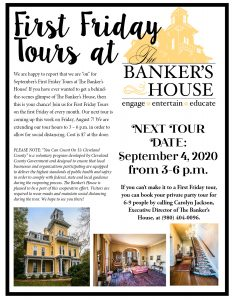 The Banker's House Tour Flyer